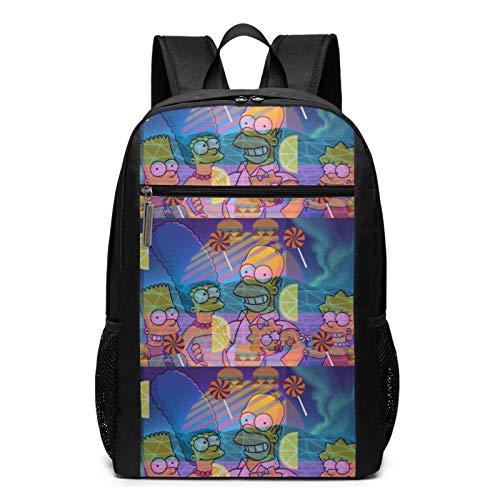 xiameng Die Simpsons Reiserucksack - Stilvolle Laptoptasche Rucksack College Bookbag Wasserdicht Business Daypack Notebook Rucksäcke für Studenten Männer - 17 Zoll
