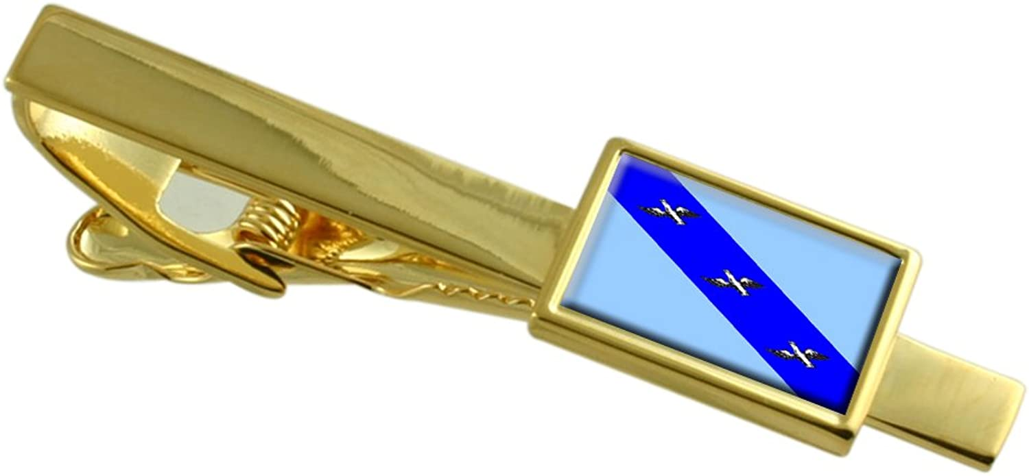 Kursk City Russia Flag gold Tie Clip