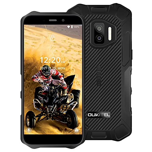 OUKITEL WP12 Pro Rugged Smartphone Senza Contratto Android 11 4G Dual SIM Impermeabile Batteria da 4000mAh 5,5 Pollici 4GB+64GB Riconoscimento del Volto Potente IP68 NFC OTG Nero