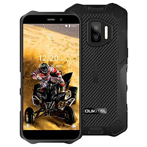 OUKITEL WP12 Pro Rugged Smartphone Senza Contratto Android 11 4G Dual SIM Impermeabile Batteria da 4000mAh 5,5 Pollici 4GB+64GB Riconoscimento del Volto Potente IP68/NFC/OTG Nero