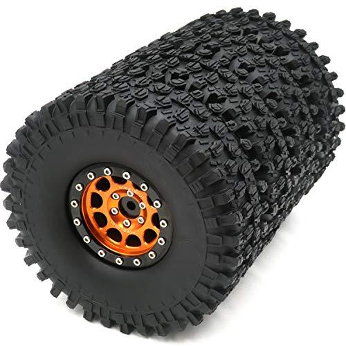 4pcs RC 1.9 Super Swamper Crawler Tires Tyre Height 120mm & Aluminum Alloy...