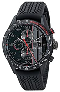 TAG Heuer Men's CAR2A83.FT6033 Carrera Analog Display Swiss Automatic Black Watch image