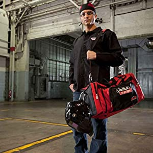 Lincoln Electric K3096-1 Welding Equipment Bag, One Size, Black/Red