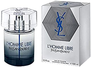 Yves Saint Laurent L'Homme Libre Eau De Toilette Spray for Men, 3.3 Ounce