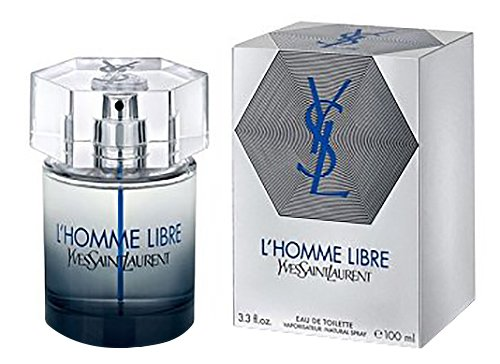 Yves Saint Laurent L'Homme Libre Eau De Toilette Spray for Men, 3.3 Ounce