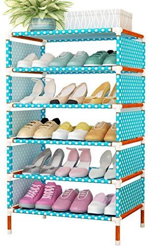 DHFDHD Rack de Zapatos Organizador portátil Zapato portátil Cubierto con Tela no Tejida Organizador de Zapatos para Uso de Zapatos de Almacenamiento de casa estantería para Dormitorio de Entrada