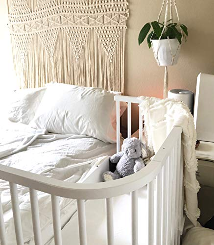 babybay Original Bedside Sleeper Bundle (White)