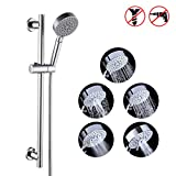 KES 5-Function Hand Shower Head with Adjustable Slide Bar, Polished SUS304 Stainless Steel