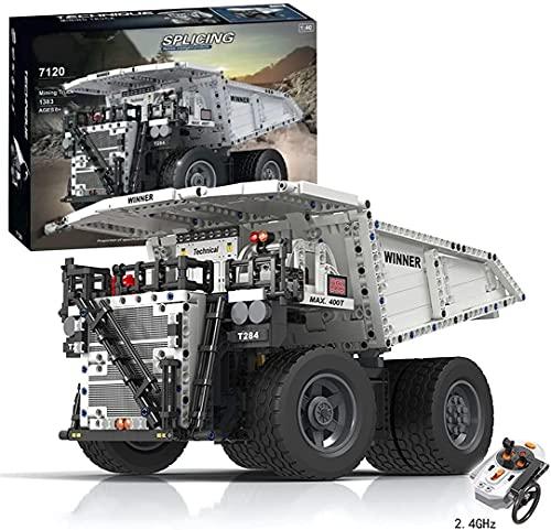 STRTT Technic - Juego de construcción de excavadoras con Control Remoto de 2,4 GHz, Kit de construcción para excavadoras de orugas, Modelo de vehículo Coleccionable(Color:Mining Truck)