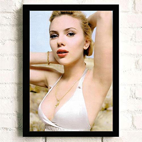 PCCASEWIND Keinrahmen Gemälde 50X70Cm,Schwarze Witwe Scarlett Johansson Film Hd Star Wandkünstler Home Decoration Leinwand Malerei Poster -Hd1454