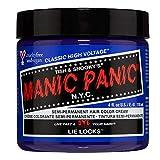 Manic Panic Lie Locks Hair Dye – Classic High Voltage - Semi Permanent Hair Color - Cool Medium Indigo Blue Shade -...
