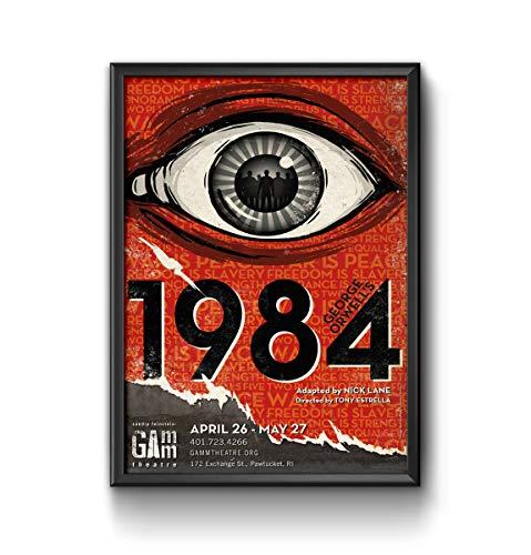 QUADRO POSTER COM VIDRO LITERATURA 1984 GEORGE ORWELL #2