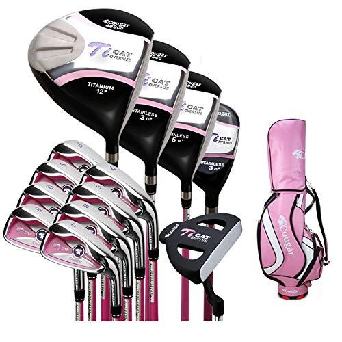 KESONGFAN Accueil Exercice YDYDMTM Cougar Golf Club Beginner Ensemble Complet for Les Femmes (Sac...