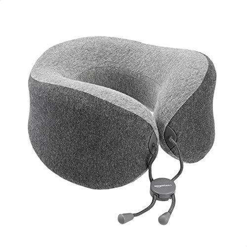 Amazon Basics Travel Pillow - Grey