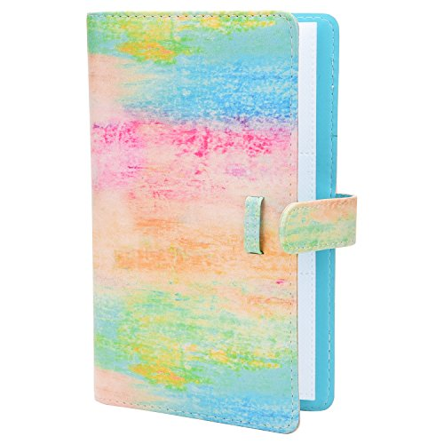 Sunmns Colorful Wallet PU Leather Photo Album Compatible with Fujifilm Instax Mini 11 9 8 90 8+ 26 7s Instant Camera Film, Polaroid Snap Zip Z2300 PIC-300 Film (Rainbow)