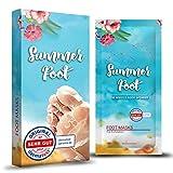 SUMMER FOOT Premium Fußmaske zur Entfernung von Hornhaut I Samtweiche