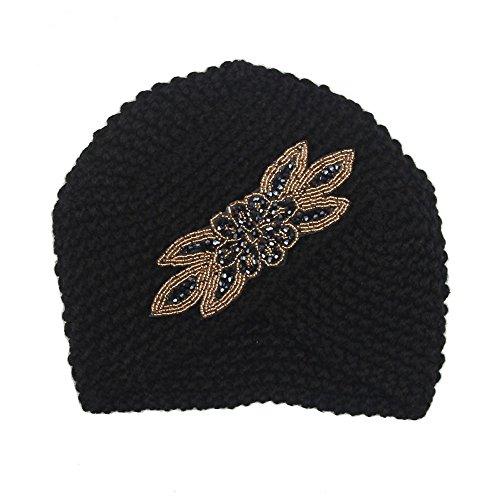 Damen Pullover Hut Einheitsgröße Schwarz