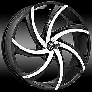 Massiv 920 Turbino 20x8.5 Black with Chrome Inserts Wheel / 5-115 mm 5-120 mm Bolt Pattern / +15 mm Offset / 74.1 mm Hub Bore