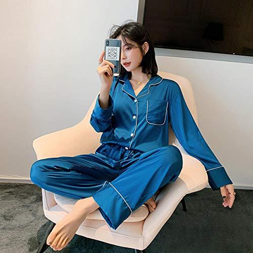 HGDS Traje de Pijama de Mujer de Gran tamaño, Manga Larga, Ropa...