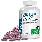 Tart Cherry Extract 2500 mg Premium Non-GMO Formula Packed with Antioxidants and Flavonoids, 90 Vegetarian Capsules