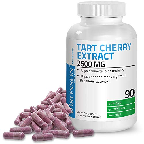 Tart Cherry Extract 2500 mg Premium Non-GMO Formula Packed with Antioxidants and Flavonoids, 90 Vegetarian Capsules
