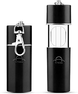 Facile da Pulire JUNSHUO 2 Pezzi Posacenere Portatile Nero Anti-Odore Ermetico Posacenere da Viaggio con Coperchio e Portachiavi per Fumatori uso esterno Mini Posacenere Tascabile