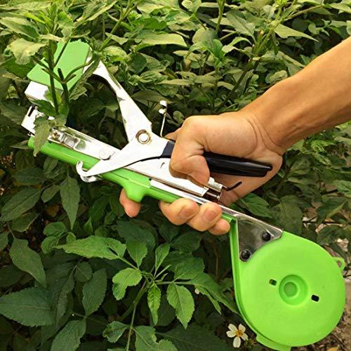 FENSHIX Agricultura Cinta Herramienta Planta de Mano Que ata la máquina Herramienta de jardín de Cinta Adhesiva Tapener máquina máquina de Cinta Valioso (Color : Green)