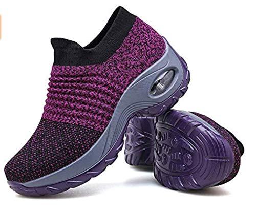 Zapatos de Trabajo Muy cómodos para Trabajos de hostelería y no resbalan-UniseZapatos Casuales Muy cómodos para Trabajos de hostelería y no resbalan-Unisex-adultox-Adulto (38 EU, Púrpura)