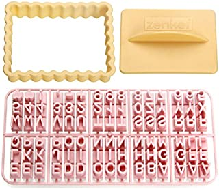 Zenker 44827Moldes para Galletas con Letras, plástico, Multicolor