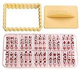 Zenker 44827Moldes para Galletas con Letras, plástico, Multicolor...