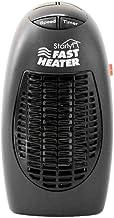 Calefactor Aire Frio y Caliente para Hogar Oficina Mini Calentador de Ventilador de 400 W Calentador eléctrico montado en la Pared Estufa Radiador Calentador Cuarto del hogar-Negro_8x7x16cm