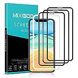 mixigoo 3 Stück Full Screen Schutzfolie für iPhone 11/iPhone XR, 9H Festigkeit Panzerglasfolie mit Positionierhilfe Anti-Bläschen Anti-Kratzen Bildschirmschutzfolie für iPhone 11/XR Folie, 6.1