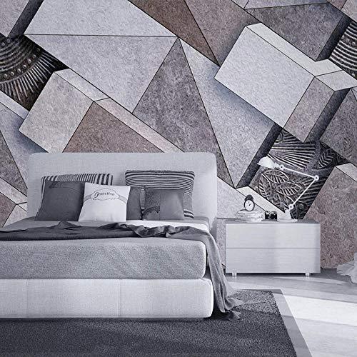 ZJfong Muurschildering 3D Stereoscopisch Abstract Baksteen Grijs Slaapbank Slaapkamer Woonkamer TV Achtergrond Muur Keuken Schilderen 140x70cm