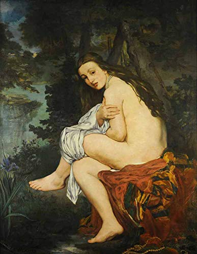 Édouard Manet - Die Überraschte Nymphe (Suzanne Leenhoff) Leinwandbilder Reproduktionen Gerollte 45X60 cm - Figur Gemälde Gedruckt Wandkunst