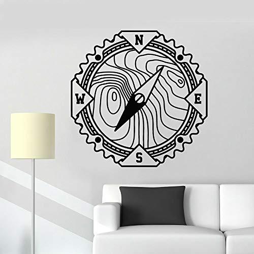 Brújula creativa vinilo pared calcomanía dormitorio mundo náutico aventura pegatina habitación de los niños Fondo pegatina Mural A9 57X57CM