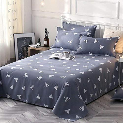 NVJR 1pcs Bed sheets+ 2pcs Pillow covers Bed Sheet 100% Cotton Mattress Protector Cover Flat Sheet Soft bed Sheet 2020,J,230x200cm
