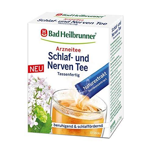 Bad Heilbrunner® Schlaf- und Nerven Tee, 10 Sticks, 1er Pack