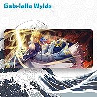 Gabrielle Wylde 大判マウスパッド Fate/Grand Order フェイト グランド オーダー FGO セイバー Saber アルトリア・ペンドラゴン 周辺機器 マウス マウスパッドキーボードパッド漫画 のキャラクター (900 * 400 * 4mm)
