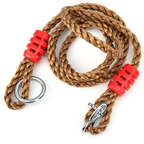 Keenso Swing Rope, Adjustable 440lb PE Connection Rope Swing Climbing Rope Hanging Ring Connection Bearing Lengthen