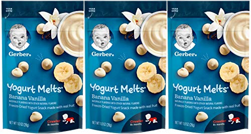 Gerber Yogurt Melts Baby Snack, Banana Vanilla, 1 Ounce (Pack of 3)