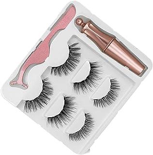 Magnetiska ögonfransar Naturlig lång magnetisk flytande eyeliner och magnetiska konstgjorda ögonfransar och pinter set Gör...