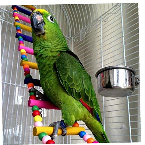 AYRSJCL 6 Escaleras Animales Pájaros Loros Subir escaleras Colgantes Juguete Bolas Coloridas con Madera Natural