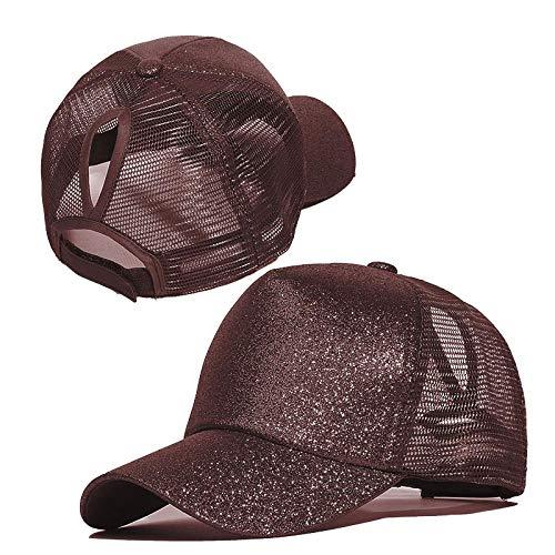 Baseballkappe Baseballkappe Frauen Einstellbare Snapback Hut Pailletten Glanz Hip Hop Caps für Frauen Papa Hut Sommer Glitzer Mesh Hüte C
