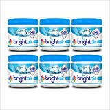 Bright Air Solid Air Freshener and Odor Eliminator, Cool and Clean Scent, 14 Oz Each, 6 Pack