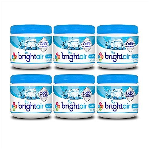 Bright Air - Ambientador y eliminador de olores, Blanco/Azul, Paquete de 6