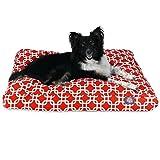 Majestic Rot Links Medium Rechteck Indoor Outdoor Pet Hundebett mit Abnehmbarer waschbarer Bezug Pet Products