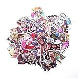 WYDML Suicide Squad Clown Girl Sticker Caja de Viaje Skateboard Refrigerador Notebook Dibujos Animados PVC Etiqueta de Dibujos Animados 33 Uds