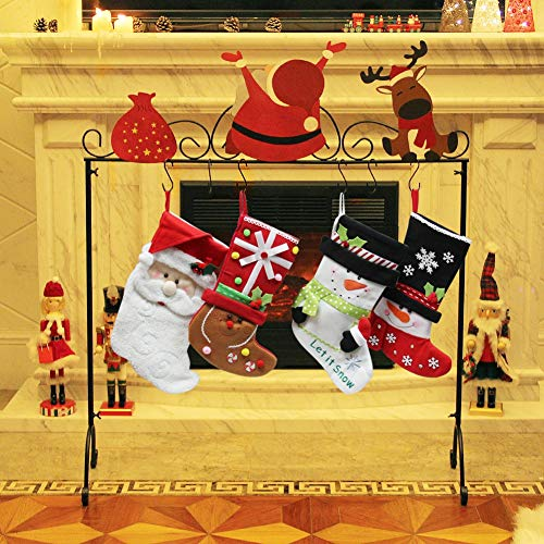 Santa Christmas Stocking Holder Stand Hangers