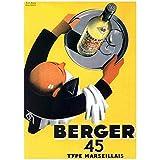 Editions Clouet 50259 - Affiche publicitaire 50x70 cm Berger 45 - Serveur