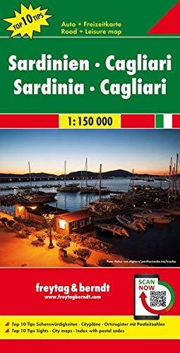 Cerdeña-Cagliari, mapa carreteras. Escala 1:150.000